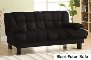 Black Microfiber Futon Sofa $369 for Sale in Los Angeles, CA