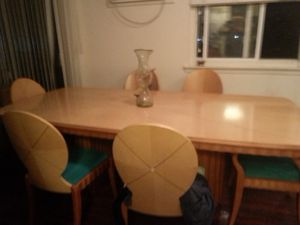 Beautiful table with chairs and another console for Sale in Philadelphia, PA