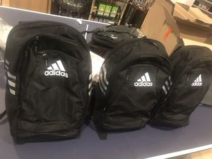ADIDAS BRAND NEW BACKPACK ALL BLACK HALF OFF BRAND NEW for Sale in Lawrenceville, GA