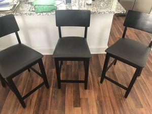 3 hardwood bar stools for Sale in Virginia Beach, VA