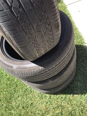 4 tires size 22555rf17 very nice tires for Sale in Patterson, CA