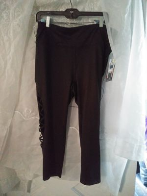 Black workout stretchy workout or otherwise pants for Sale in Los Angeles, CA