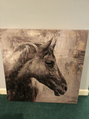 Huge horse canvas print about 3ft x 3ft for Sale in Madison, AL