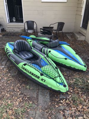 Two inflatable intex kayaks, paddles included. for Sale in Maitland, FL