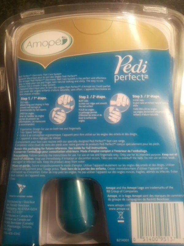 Amope' Pedi Perfect Electronic Nail Care System