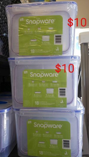 Snapware Plastic Food Storage Container Set (18-piece) for Sale in Las Vegas, NV