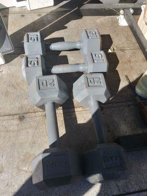 Set of 20lb dumbbells for $60 for Sale in Elmhurst, IL