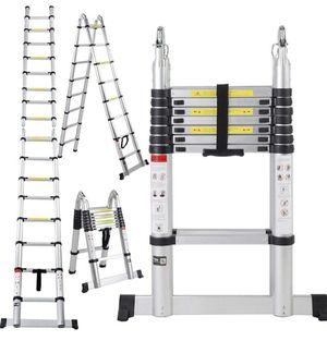 16.5 Ft Aluminum Telescopic Ladder Telescoping A-Type Extension Multi Purpose for Sale in Houston, TX