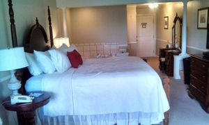 King size cherry headboard, footboard, and bed frame for Sale in Rockport, ME