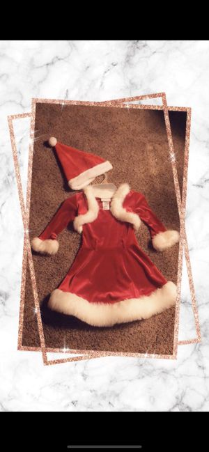 Girls Christmas dress with hat for Sale in Shelby Charter Township, MI