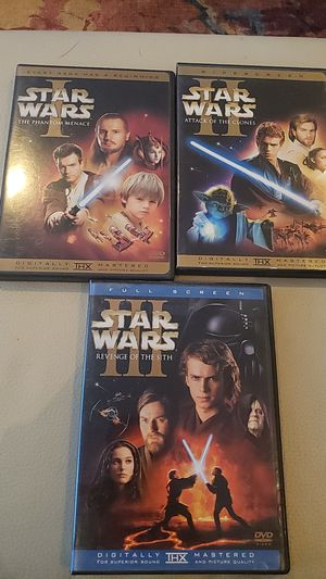 Star Wars Episodes I, II and III DVDs for Sale in Washington, DC