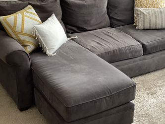 Charcoal Chenille Fabric Sectional Couch for Sale in Smyrna,  GA