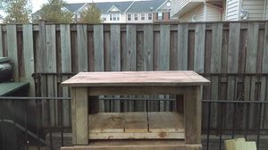 rustic coffee table. hand made! unfinished. for Sale in Frederick, MD