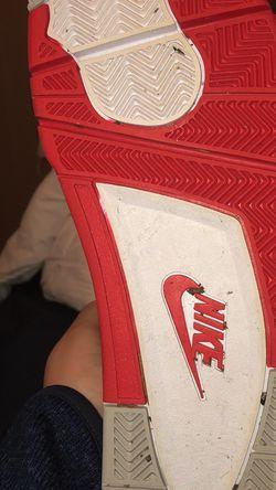 jordan fire red fours (size 12) for Sale in Redmond,  WA