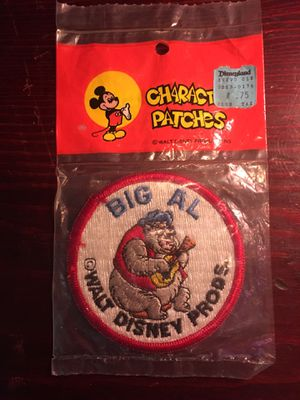 1970's Walt Disney World Big Al Character Patch for Sale in Pittsburgh, PA