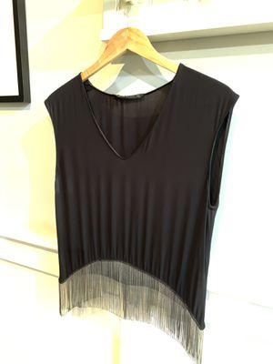 Zara Woman Black fringe Top. Size small for Sale in Chicago, IL