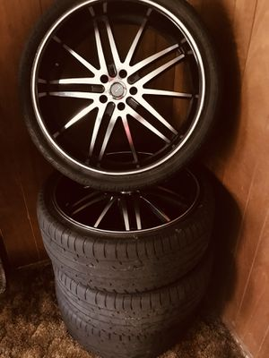 """22"""" Velocity Rims & Tires for Sale ~ $650 for Sale in Seattle, WA"""