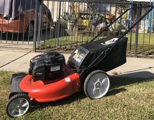 Yard machines push lawn mower 6hp works great 1 year old for Sale in Fresno, CA