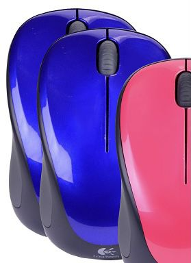 Logitech m317 2.4GHz Wireless 3-Button USB Optical Scroll Mouse (Just Berry Blue) ONE UNIT