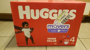 124 Ct Huggies Size 4 for Sale in Glendale, AZ