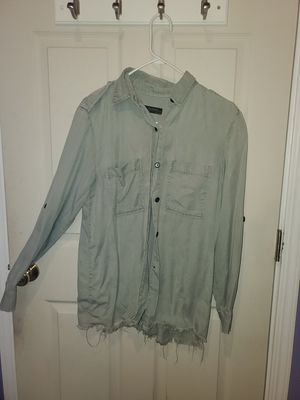 Green Button Down Zara Woman Premium Denim Collection one size for Sale in Daly City, CA