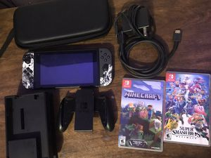 Nintendo switch with smash bros and Minecraft for Sale in Los Angeles, CA