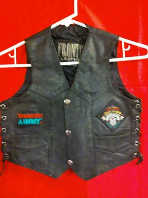 Iron Horse Motorcycle 1994 four conners Rally Ignacio Colorado Childrens Lg. Leather Vest. for Sale in Westminster, CO