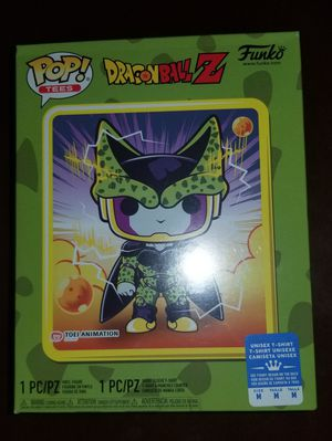 Sealed Funko dragonball z perfect cell metallic pop and M shirt gamestop exclusive for Sale in Hemet, CA