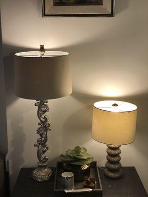 Metallic neutral lamp set for Sale in Austin, TX