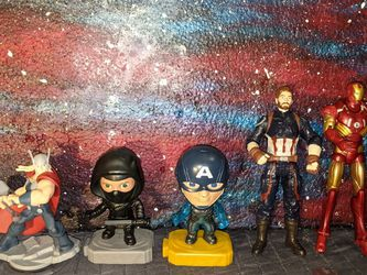 Marvel Avengers Action Figures Lot Ironman Captain America Hawkeye Thor Infinity Disney for Sale in Tigard,  OR