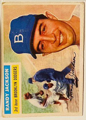 1956 Topps Randy Jackson Brooklyn Dodgers Auto Print for Sale in Las Vegas, NV