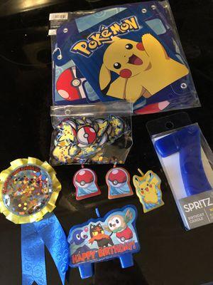 Pokemon party supplies for Sale in Lawton, OK