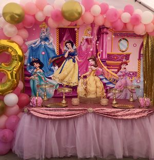 Princesses party-Princesses backdrop-princesa for Sale in Los Angeles, CA