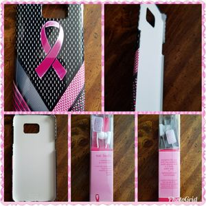 Breast cancer Samsung GALAXY S 7 edge minimal case with breast cancer earbuds for Sale in Philadelphia, PA