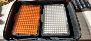 Pair of Neewer Video Lights PT-176S, diffusers & 4 batteries and AC adapter for Sale in Falls Church, VA