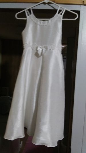 Girls white dress with slip size 7 for Sale in Laurens, SC