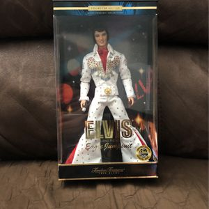 Elvis Collectible Collector Edition Doll Featuring in White Eagle Jumpsuit Timeless Treasures Elvis Presley Collection for Sale in South San Francisco, CA