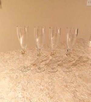 Set of 4 Flute Glasses for Sale in Herndon, VA