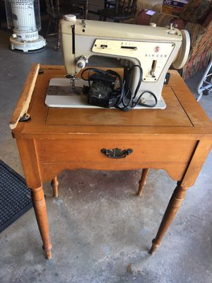 Old Singer Sewing Machine in Cabinet for Sale in Dawsonville, GA