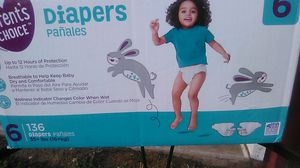Size 6 diapers for Sale in Poteau, OK