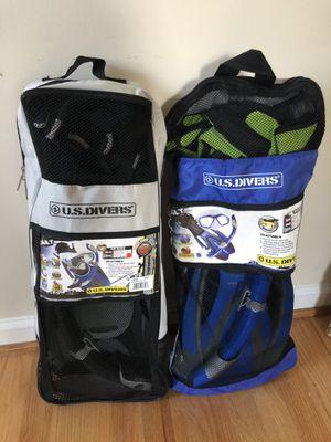 US Divers Adult Snorkel Set (Sizes LG/XL & SM) for Sale in Alexandria, VA