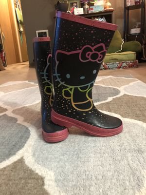 Hello Kitty boots youth size 5 for Sale in Brooks, OR