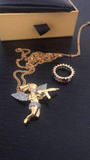 Angel of Death Necklace & Baguette Ring for Sale in Everett, WA