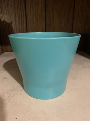 "4.5""x5"" Aqua Blue/Turquoise Green IKEA Flower Pot Vase Paint Brush Pencil Holder for Sale in Sacramento, CA"