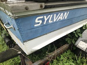 "1968 Sylvan 17'6"" V bottom all aluminum With Trailer for Sale in Columbia Station, OH"