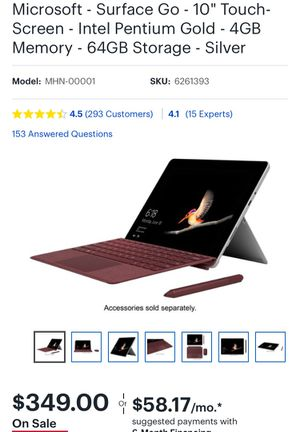Microsoft Surface Go for Sale in Arlington, VA