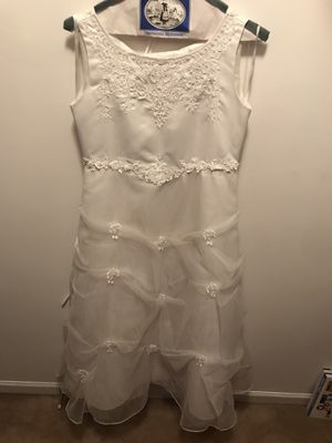 Mom, Dad & Me first communion flower girl dress for Sale in Bristol, IL
