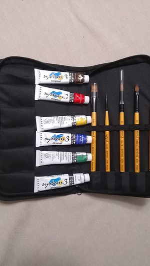 Acrylic Art Paint Set with Brushes for Sale in Tumwater, WA