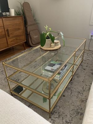 West Elm Gold Terrace Coffee Table - Coffee Tables - Home Decor for Sale in Portland, OR