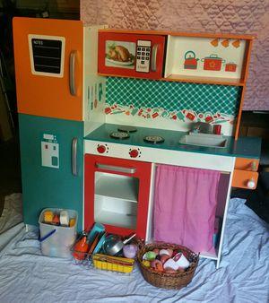 Kids wooden play kitchen for Sale in Fair Oaks, CA